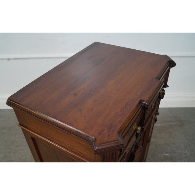 American Carved Walnut Cabinet For Sale - Image 9 of 10