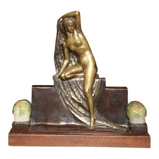 Art Deco Figural Lamp by Fanny Rozet For Sale