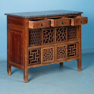 Antique Marble Top Chinese Lacquer Sideboard Preview