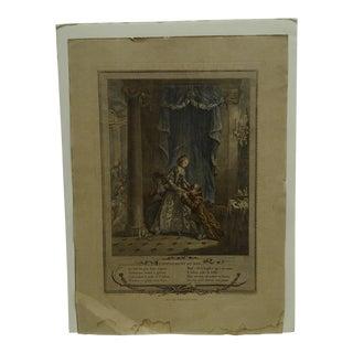 "Vintage French Print Titled ""L' Evenement Au Bal"" For Sale"
