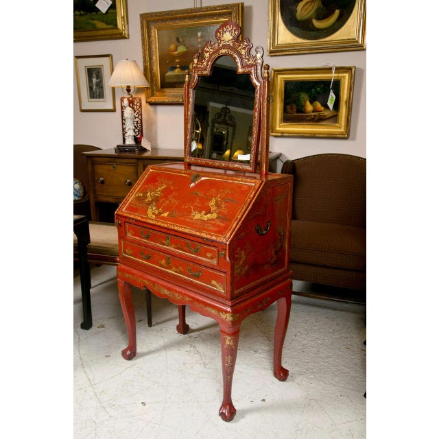 Asian Antique 19th Century Painted Chinoiserie Vanity For Sale - Image 3 of 10