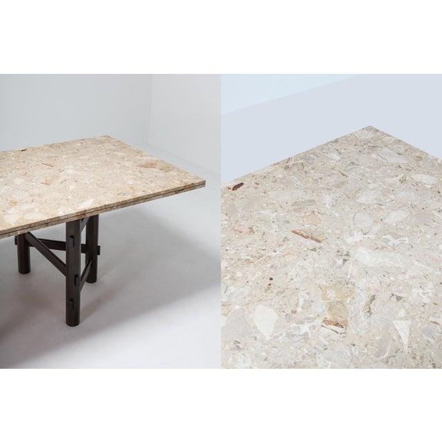 Tan Modern Terazzo Marble Dining Table by Jan Vlug For Sale - Image 8 of 9