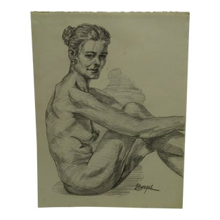 """""""Hunched Over"""" Original Drawing Paper"""