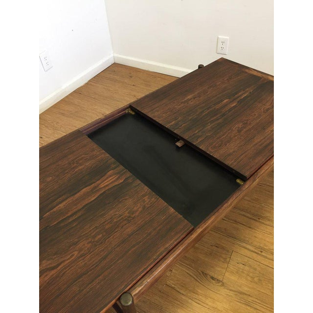 Mid-Century Modern Danish Mid-Century Modern Rosewood Flip Top Coffee Table For Sale - Image 3 of 11