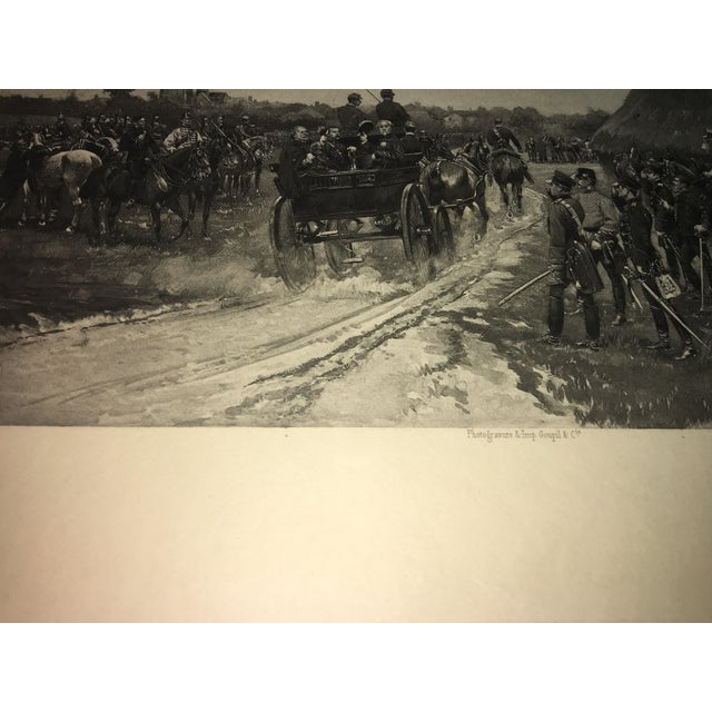 1881 Edouard Detaille Military Scene Lithograph For Sale - Image 5 of 7