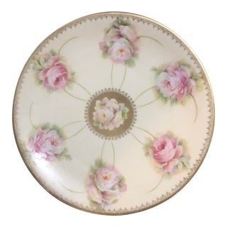 Moschendorf of Bavaria Roses Porcelain Plate For Sale