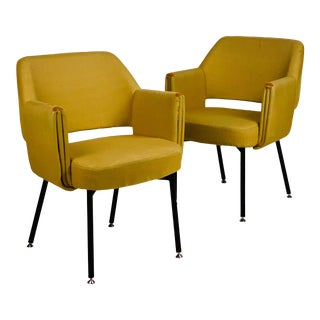 """Marc and Pierre Simon for Airborne """"Deauville"""" Armchairs - a Pair For Sale"""
