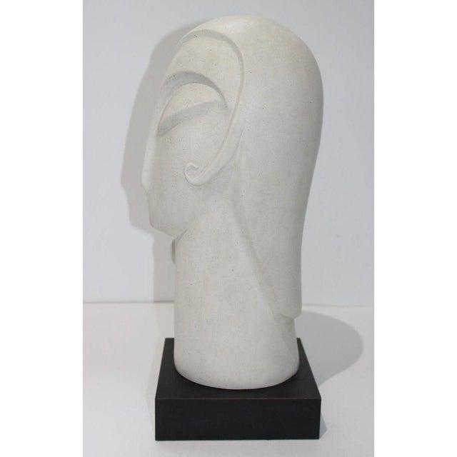 Plastic Vintage Art Deco Revival Fisher Sculpture Woman's Head Austin Productions Reproduction For Sale - Image 7 of 12
