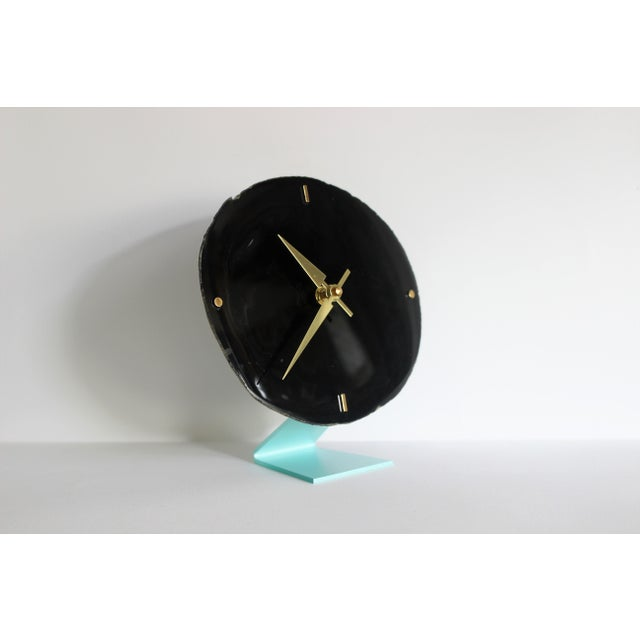 Agate Slice Black Desk Clock - Image 2 of 7