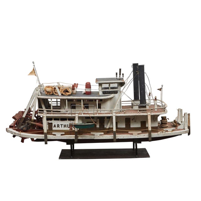 Folk Art Paddle Boat 'Arthur' of Paducah, Ky For Sale