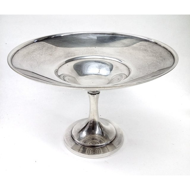 Vintage Pedestal Silver Plate Candy Condiment Dish For Sale - Image 5 of 8