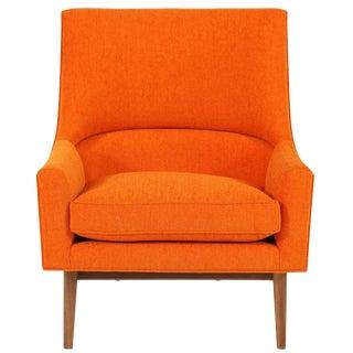 Cedrick Walnut Base Lounge Chair For Sale