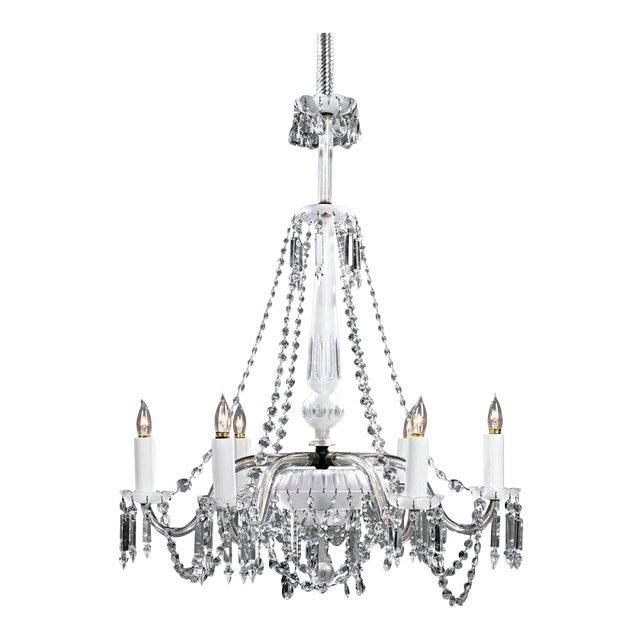 Venetian Clear Glass Chandelier For Sale