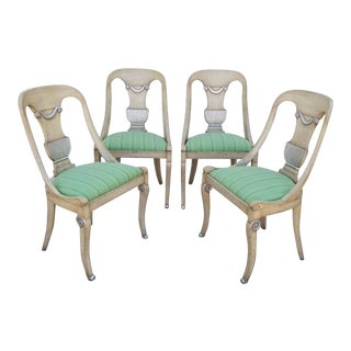 1960s Vintage Italian Hollywood Regency Dining Chairs- Set of 4 For Sale