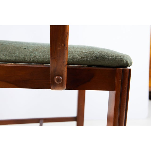 Art Deco Burl Walnut Side Chair For Sale - Image 10 of 13