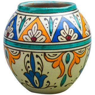 Ceramic Vase W/ Andalusian Pattern For Sale