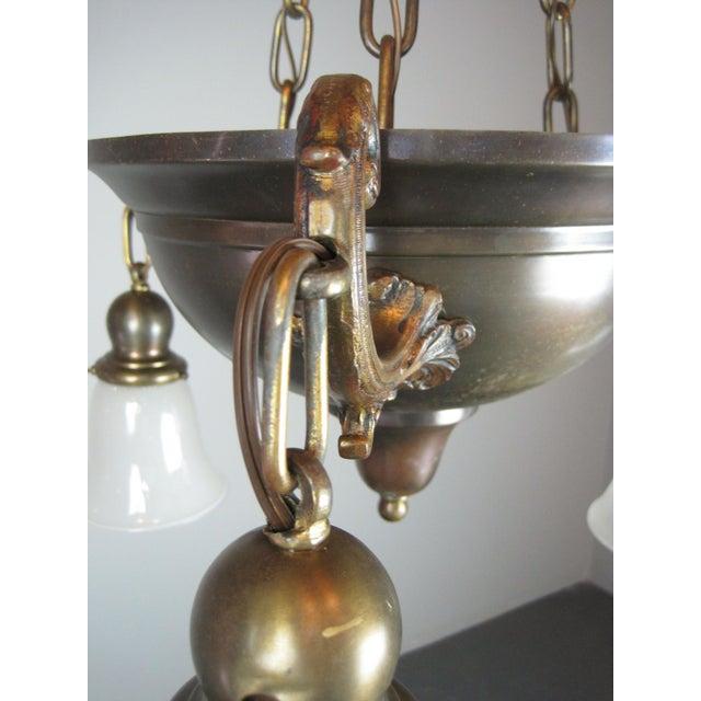 Original Arts & Crafts Bowl Light Fixture For Sale - Image 11 of 11