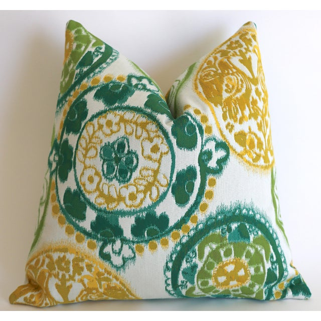 Not Yet Made - Made To Order Sunbrella Suzani Outdoor Pillow Cover 20x20 For Sale - Image 5 of 5