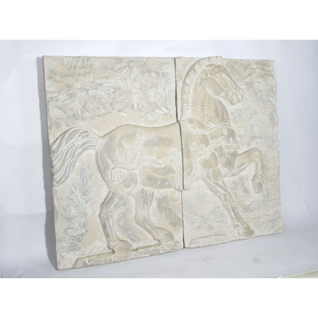 White Fiberglass Horse Wall Art Pieces - A Pair - Image 4 of 7