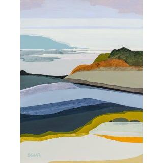 "Contemporary Fine Art Print, ""Blue Rocks"" by Angela Seear - 24"" X 32"" For Sale"
