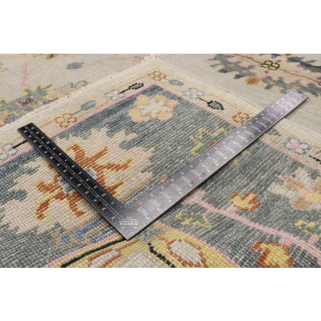 2010s Contemporary Oushak Transitional Area Rug - 9′ × 12′7″ For Sale - Image 5 of 10