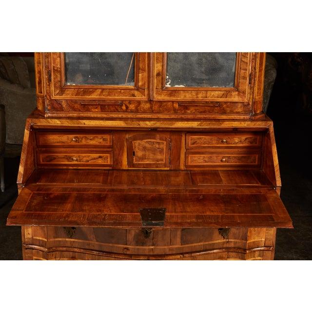 Mid 18th Century 18th Century Italian Baroque Walnut and Fruitwood Secretary For Sale - Image 5 of 9
