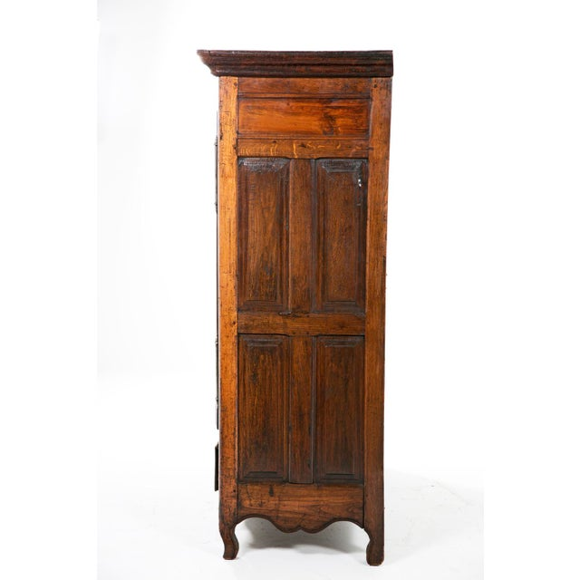 Early 19th Italian Century Rustic Oak Armoire For Sale - Image 9 of 11
