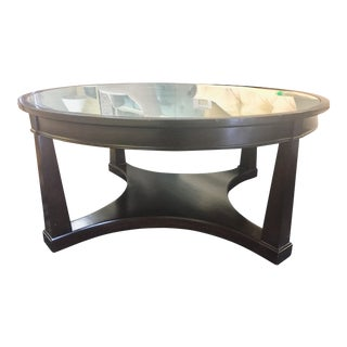 Traditional Sutton House Round Cocktail Table For Sale