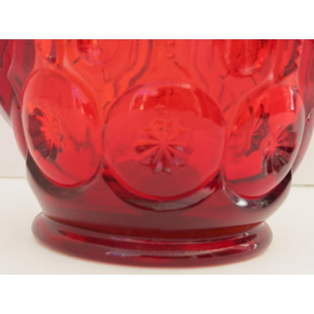 Moon & Stars Ruby Red Pitcher - Image 5 of 5