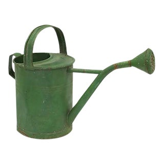 Mid-Century English Green Watering Can For Sale