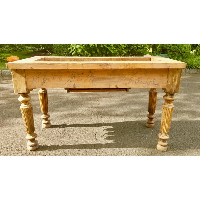 Metal 19th Century Parisian Butcher Block Table For Sale - Image 7 of 13