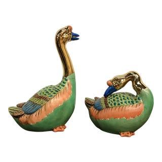 Vintage Ceramic Ducks - A Pair