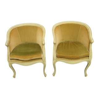 French Burl Shape Small Side Chairs by Jamestown Lounge 2113 - a Pair For Sale