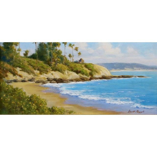 David Chapple -Panoramic View of Laguna Beach California -Oil Painting California Impressionist oil painting on canvas...