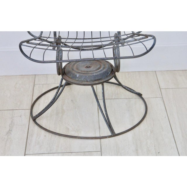 Mid-Century Modern Wire Patio Chair Frame - A Pair - Image 4 of 5