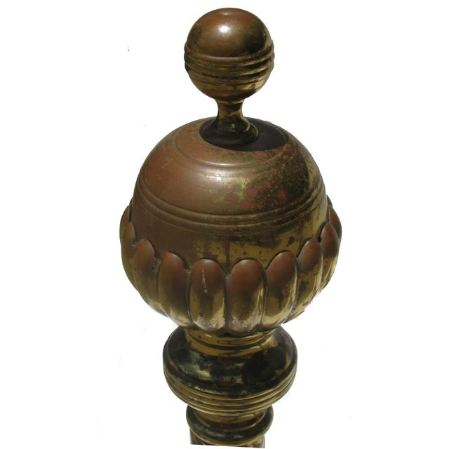 French Andirons with Ball & Claw Feet - A Pair - Image 2 of 4
