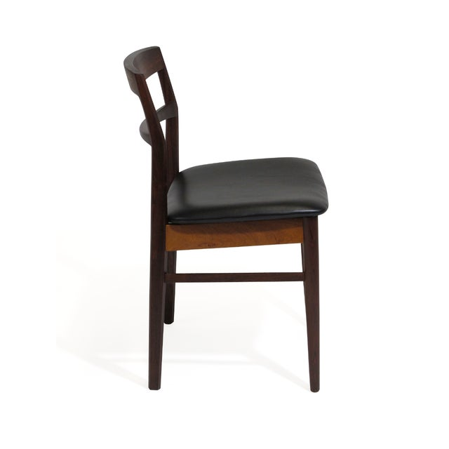 Mid-Century Modern Rare Arne Vodder Solid Rosewood Dining Chairs - Set of 8 For Sale - Image 3 of 13