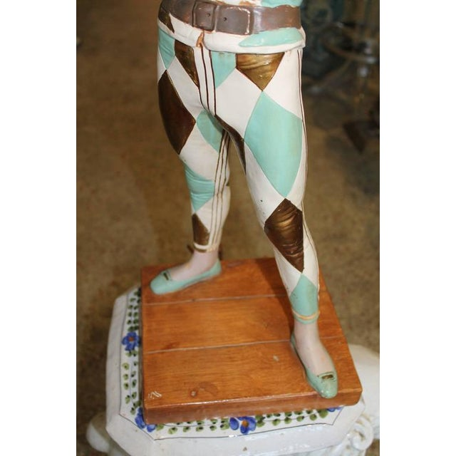 Green Vintage Harlequin Jester Table Lamp by Marbro For Sale - Image 8 of 10