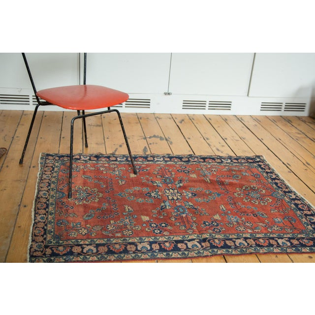 "Antique Manchester Kashan Square Rug - 3'4"" X 4'6"" - Image 2 of 8"