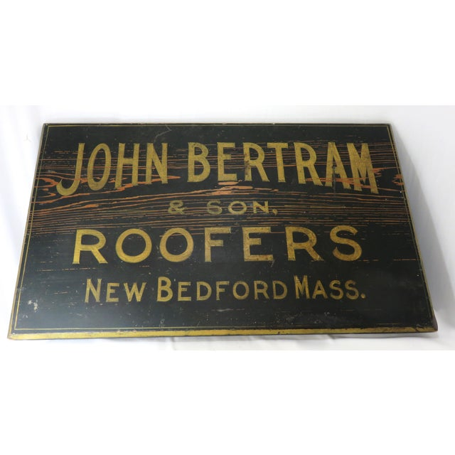 A wonderful Antique Hand Made - Hand Painted Wood Roofers Business Sign. This item hails from the Historical New England...