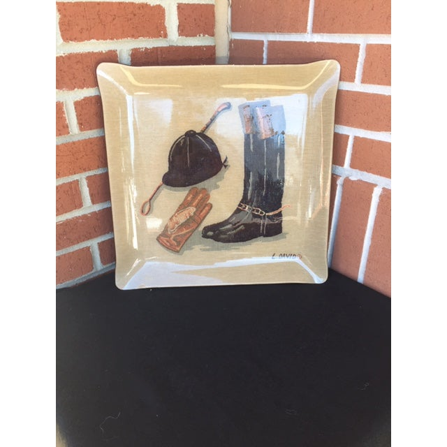 Mid-Century Equestrian Tray For Sale - Image 9 of 9