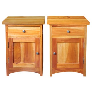 Pair of Mahogany Nightstands For Sale