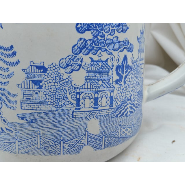 19th Century Enamel Willow Teapot - Image 3 of 5