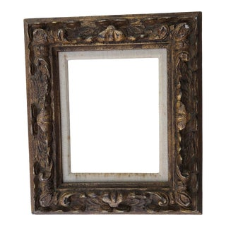 Vintage Ornate Carved Wood Mid Century Picture Frame 8 X 10 Finished Corners For Sale