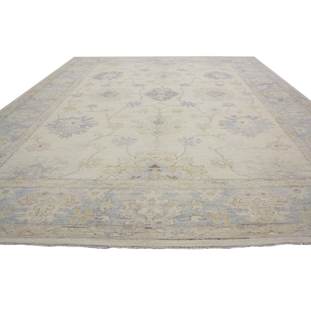Cottage Modern Oushak Style Rug - 9′9″ × 13′7″ For Sale - Image 3 of 5