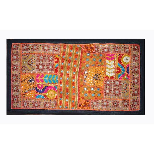 Antique Boho Chic Handmade Fiber Art Wall Hanging Tapestry. Festive. Focal. Fun. This Bohemian Chic, Modern, Handmade wall...