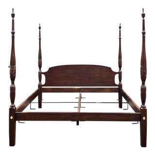 Henkel Harris Solid Mahogany King Bed For Sale