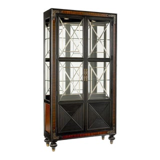 Thomasville Ernest Hemingway Mahogany & Ebony Masai Dining China Curio Cabinet For Sale