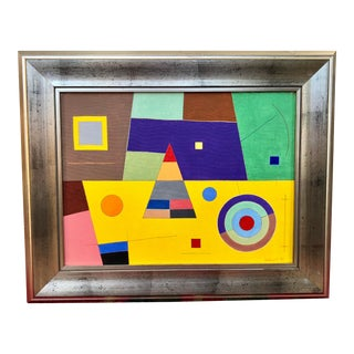 1984 Memphis Hard Edge Abstract Painting For Sale