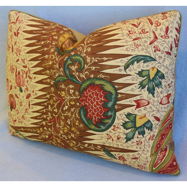 """Early 21st Century French Pierre Frey La Riviere Feather/Down Pillow 22"""" X 16"""" For Sale - Image 5 of 8"""